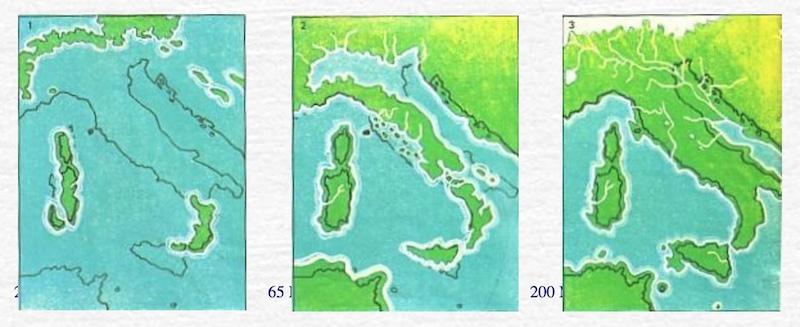 Evoluzione geologica dell'Italia in tre semplici immagini