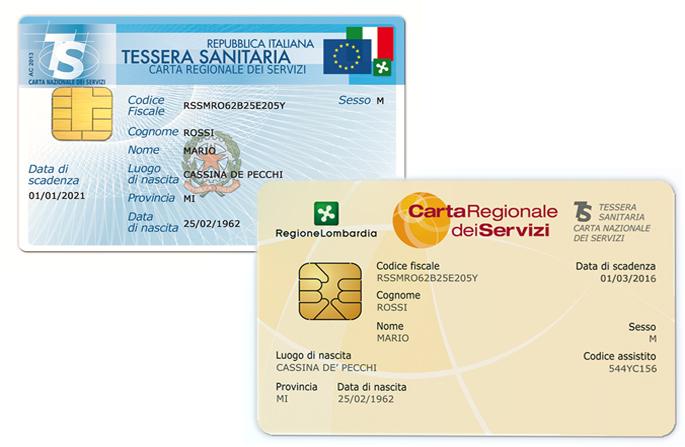 Carta Regionale dei Servizi (Tessera Sanitaria Nazionale) e PIN online