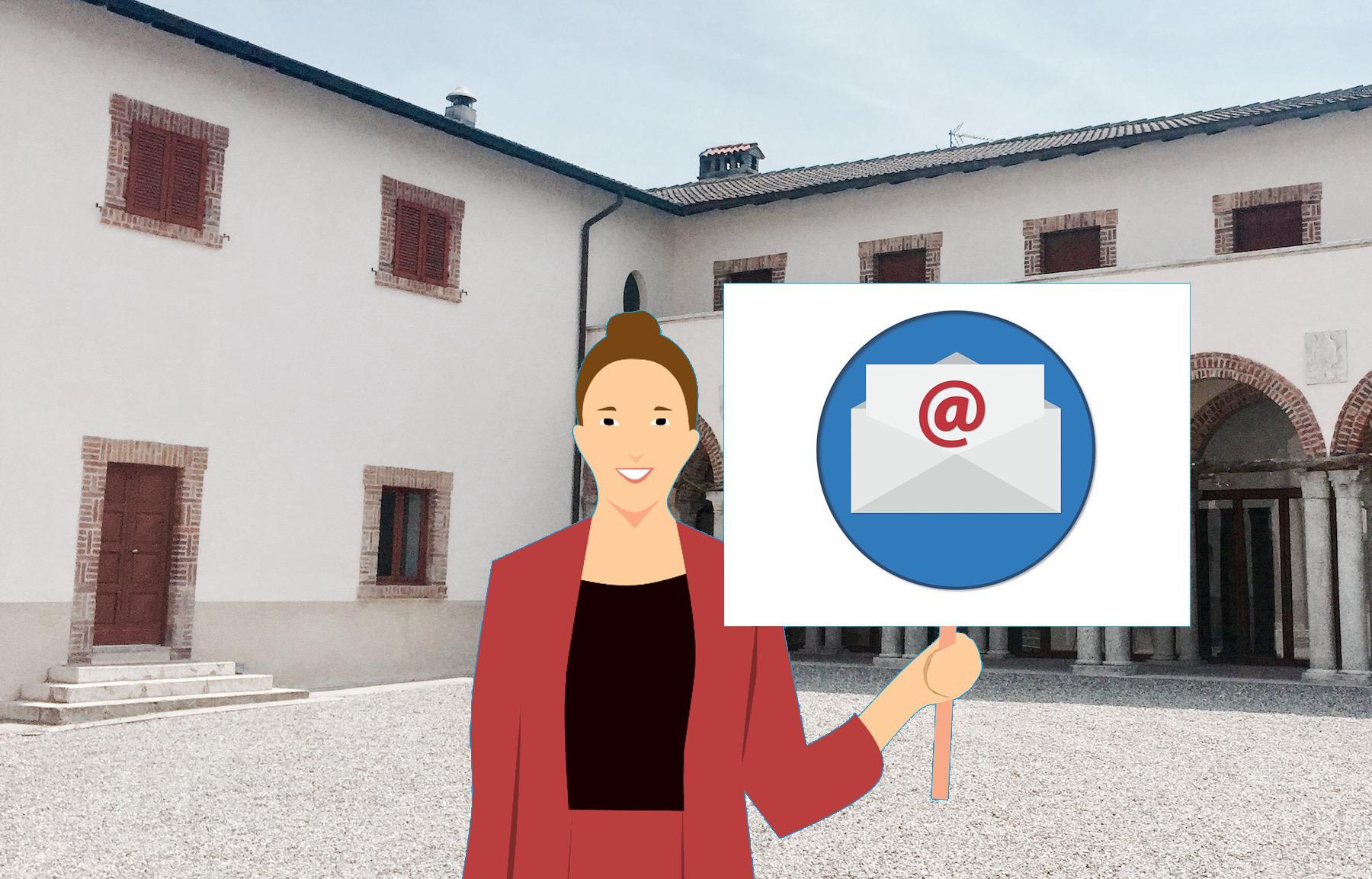 Email per delucidazioni sull'Ostello nel Castello di Ariberto a Capiago Intimiano
